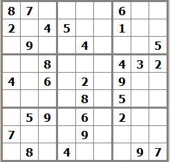 Sudoku moyen ordinateurs et logiciels - Grilles sudoku gratuites ...