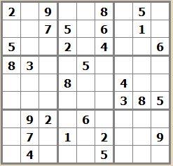 Sudoku moyen ordinateurs et logiciels - Grille de sudoku diabolique ...